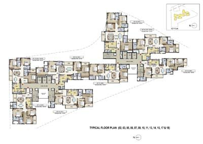 Aparna Elina gated community apartments typical floor plan