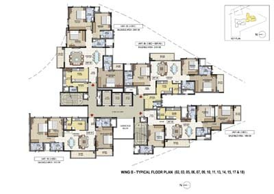 Aparna Elina yashwantpur typical floor plan