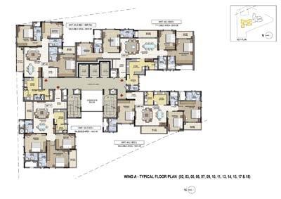Aparna Elina gated community apartments in yashwantpur 3bhk and 4bhk floor plan