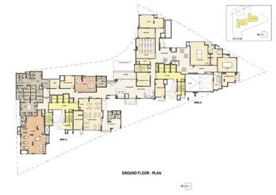 Aparna Elina gated community apartments in yashwantpur Ground floor plan