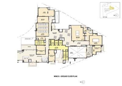 Aparna Elina gated community apartments in yashwantpur Wing B ground floor plan