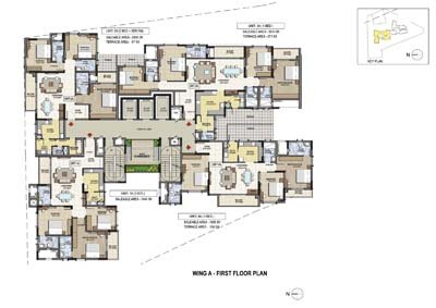 Aparna Elina yashwantpur Wing A First floor plan