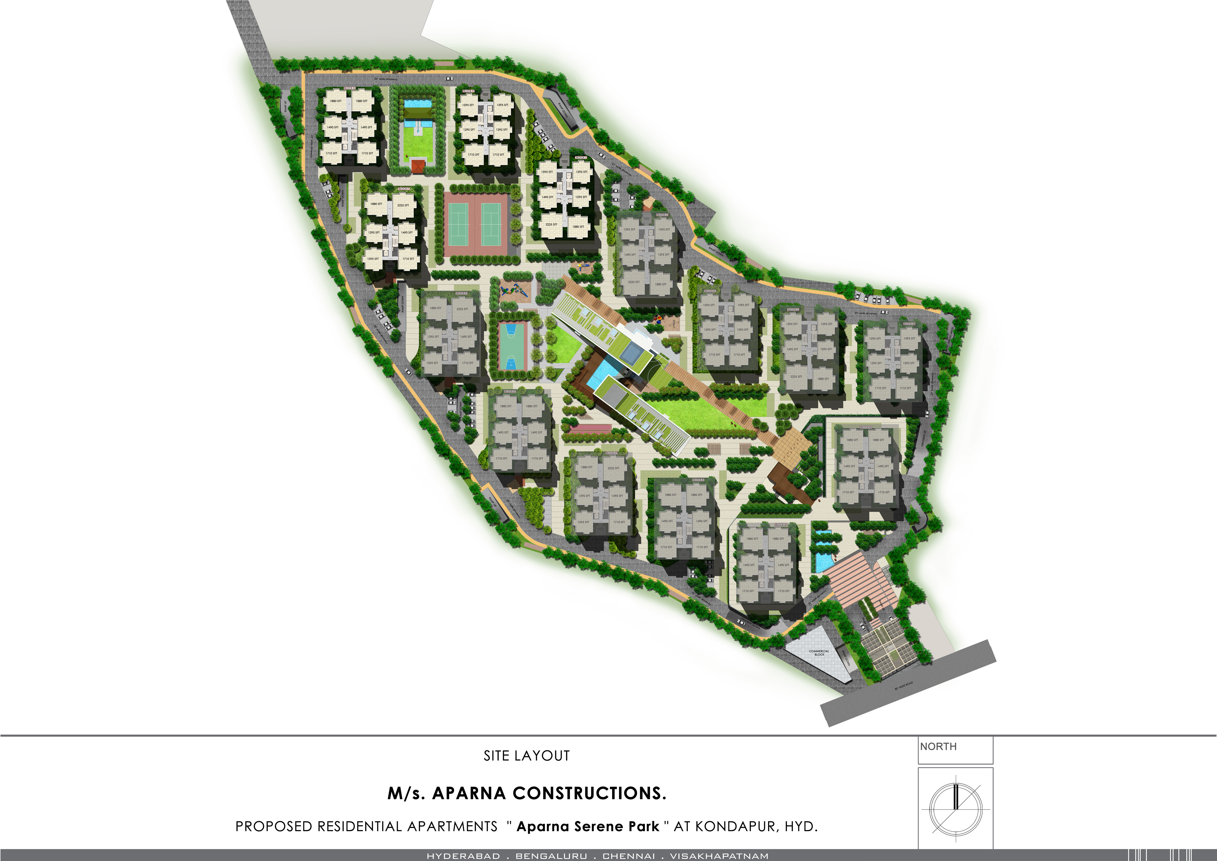 Gated Communities Apartments For Sale In Kondapur Aparna Serene Park Shutters Home Depot Free Download Wiring Diagram Schematic Gachibowli Site Layout 2