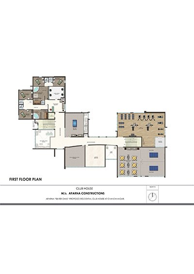 Aparna hillpark silver oaks Chandanagar apartments first floor plan