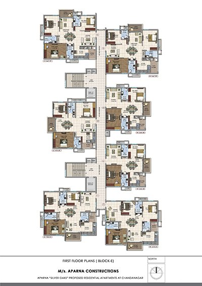 Aparna hillpark silver oaks Chandanagar apartments first floor Block E floor plan