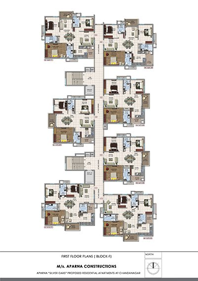 Aparna hillpark silver oaks Chandanagar apartments first floor Block F floor plan
