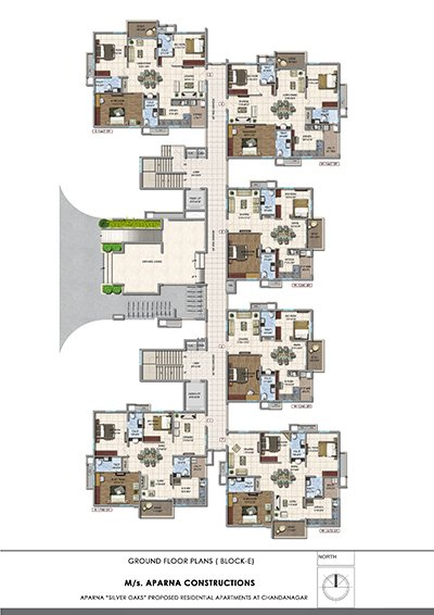 Aparna hillpark silver oaks Chandanagar apartments Ground floor Block E floor plan