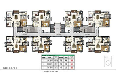 Aparna Sarovar Zenith nallagandla apartment second floor plan