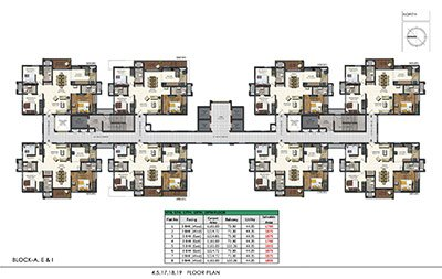 19 floor plan in Aparna sarovar zenith nallagandla