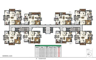 Aparna Sarovar Zenith nallagandla apartment 6th floor plan 2