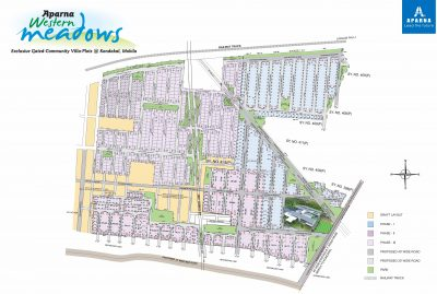 Aparna Western meadows site map