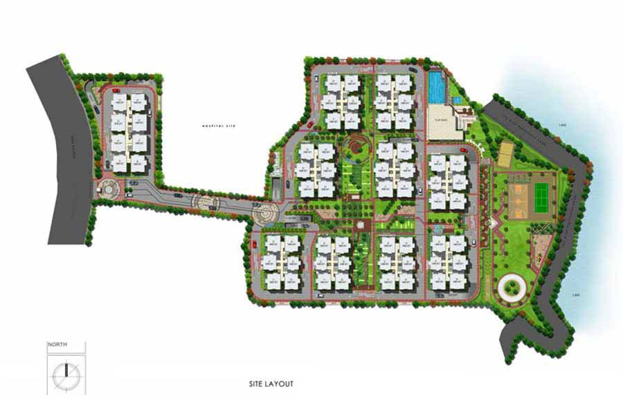Aparna Cyberlife apartment gachibowli site layout