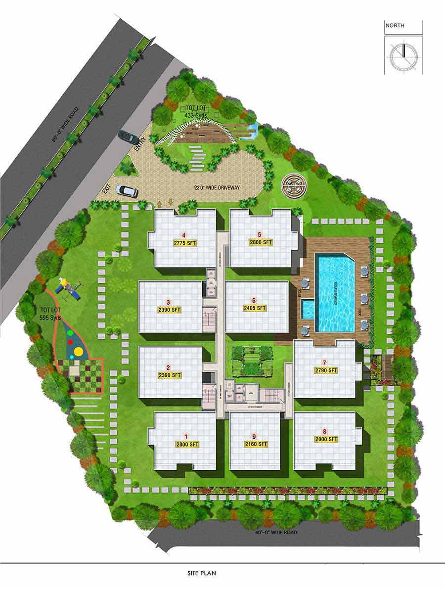 Aparna Westside Manikonda Site Layout