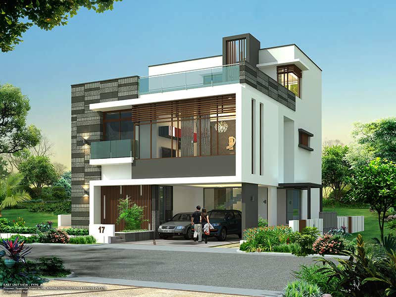 Gated Community 4 Amp 5 Bhk Villas Near Gachibowli Sale