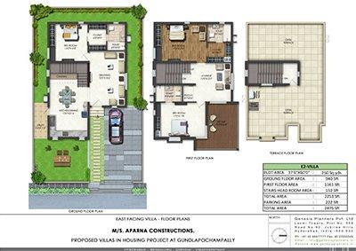 Aparna kanopy Lotus Kompally villa Floor Plan 2