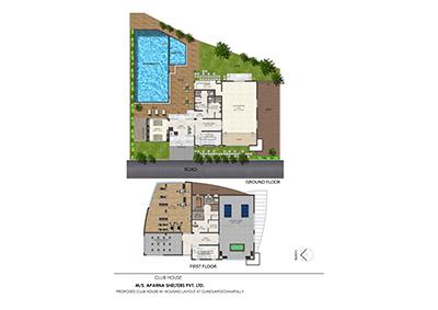 Aparna kanopy lotus kompally villa Floor plan 1