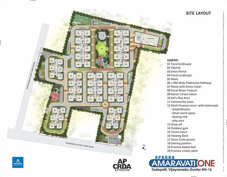 Aparna Amaravati one gated community flats in vijayawada site layout