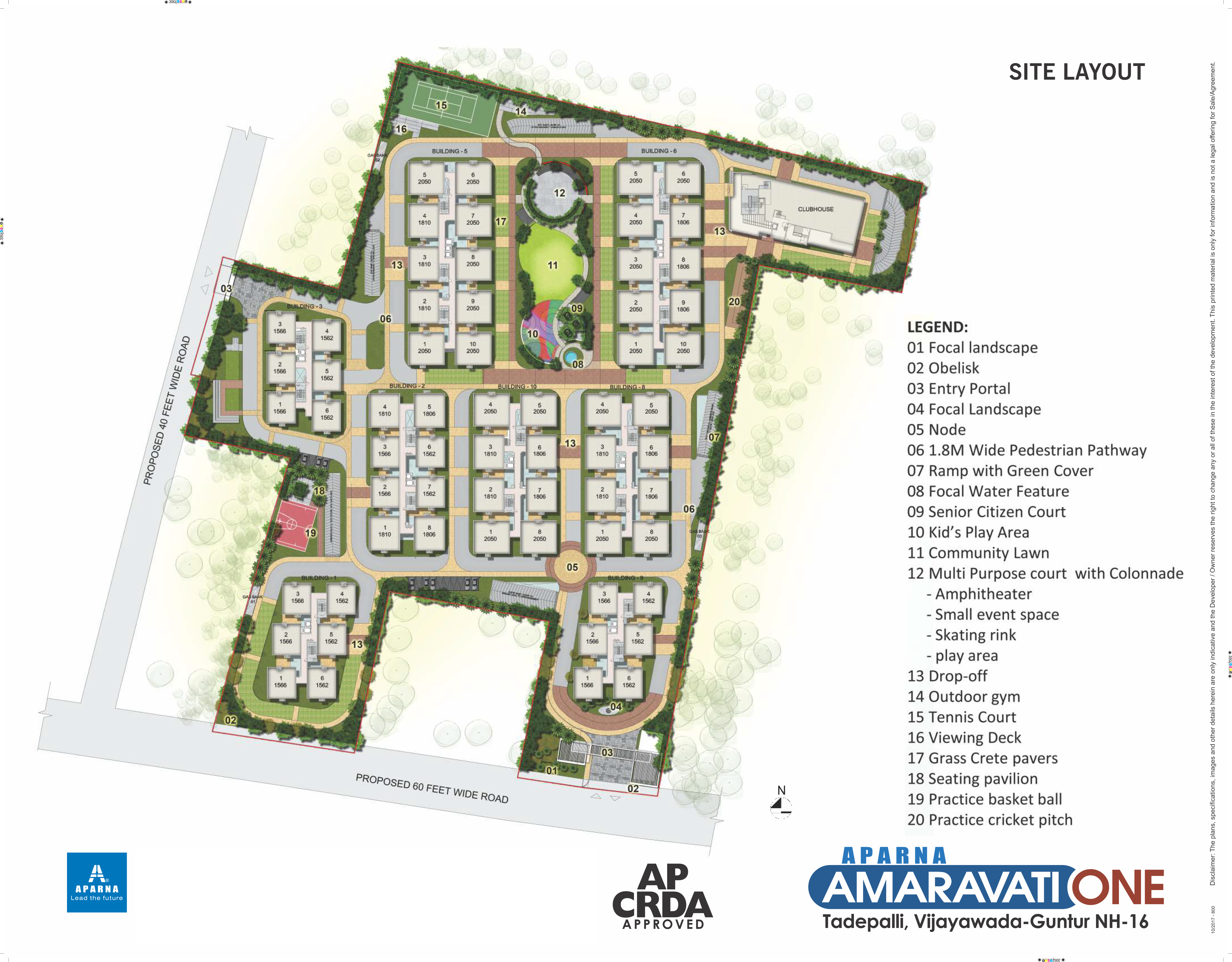 New Gated Community Flats In Vijayawada For Sale Aparna Amaravati One Project Was About The Building A 2 Room House With Parallel Circuit Site Layout