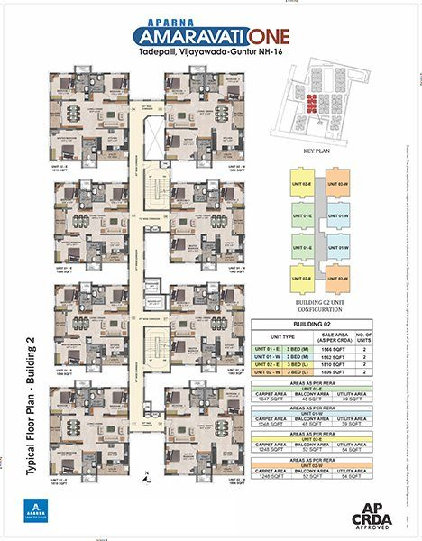 Aparna Amaravati One gated Community Flats in Vijayawada building 2 floor plan
