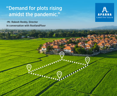 Why did the demand for plotted developments shoot up during the pandemic?